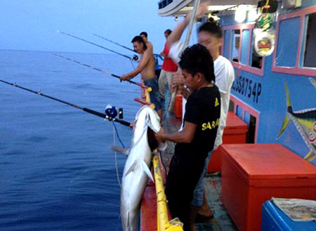 4D3N Miri Deep Sea Fishing Trip